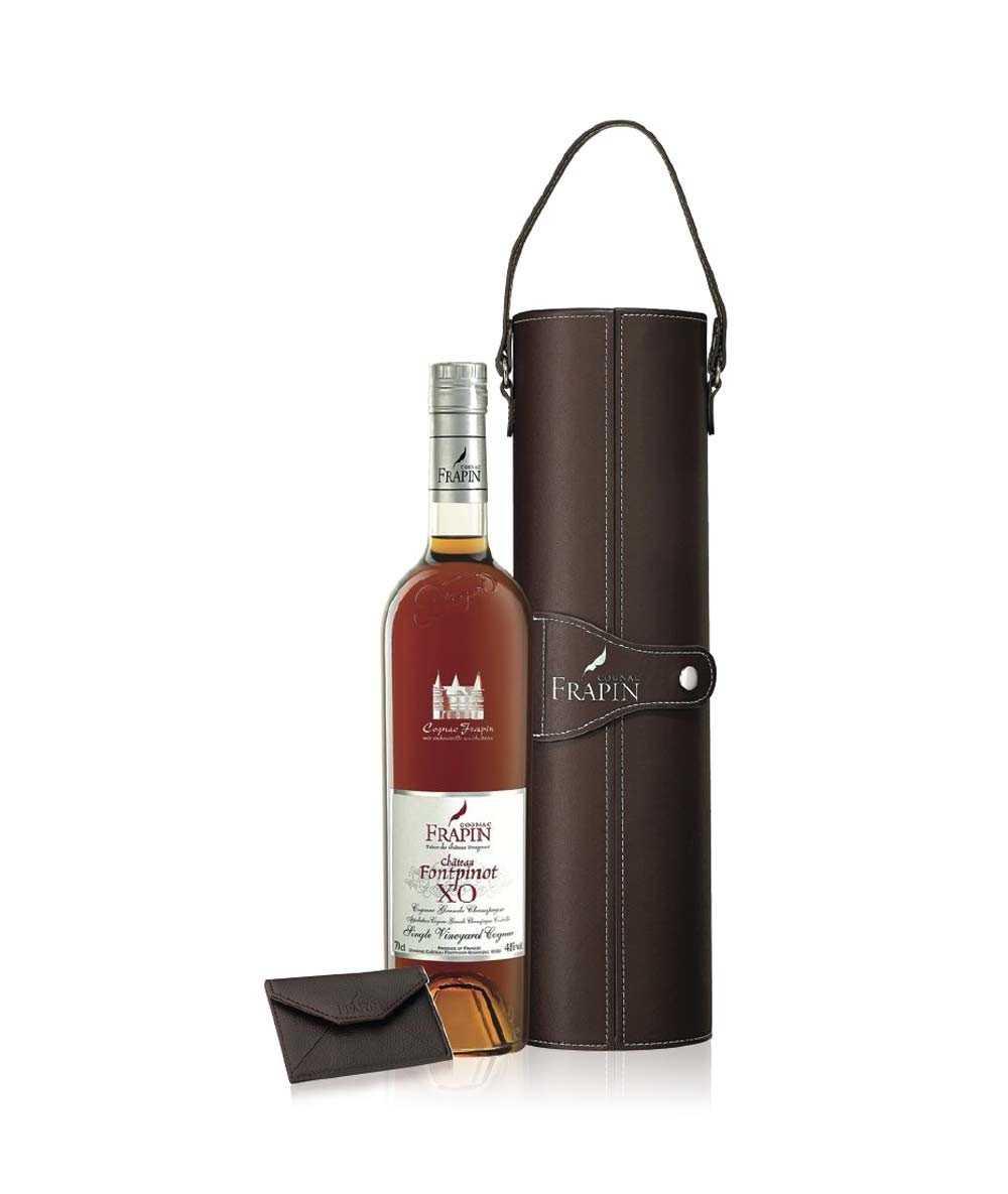 Cognac Frapin – Château de Fonpinot – Leather case XO