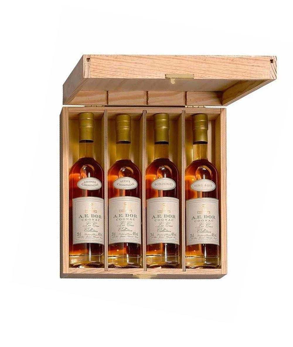 Cognac A.E. Dor – Quatre Cru Set