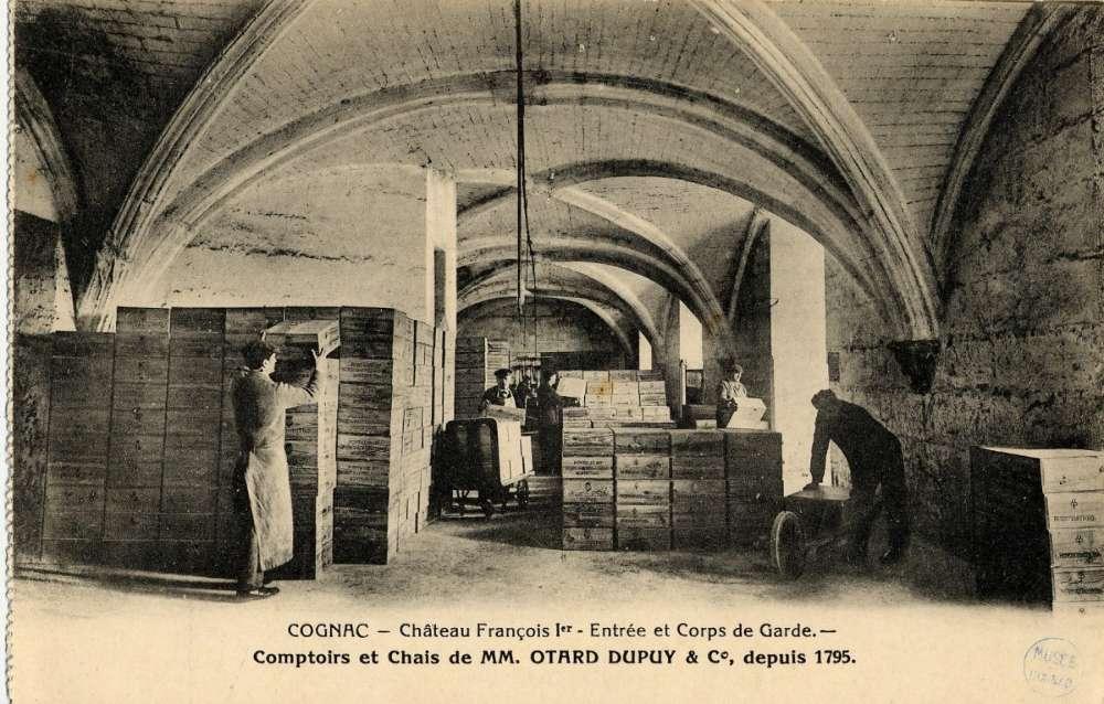 Les voûtes piquées d'histoire du château de Cognac, propriété de la maison Otard depuis la Révolution française.